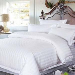 ชุดเครื่องนอนลายริ้ว เกรดพรีเมี่ยม งานโรงแรม ผ้าคอตตอน นวมใหญ่ 8 ฟุต (ส่งฟรีพัสดุ / ems. 150 บ.)