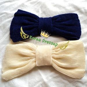 ♥♥พร้อมส่งค่ะ♥♥ เข็มขัดผ้ายางยืด ลายโบขนาดใหญ่ๆ สไตล์คลาสสิค