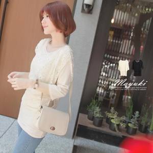 ♡♡pre-order♡♡ เสื้อผ้าน่ารักๆ แต่งผ้าลูกไม้ด้านบนสวยหวานมากๆ