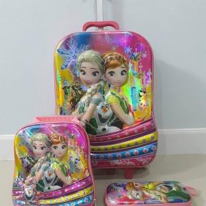 กระเป๋าล้อลากลายการ์ตูน Set 3 ชิ้น เหมาะกับน้อง ๆ ลากไปโรงเรียน หรือสำหรับเดินทาง 2-3 วัน (ส่งฟรี) / ems. ชุดละ 150 บ.