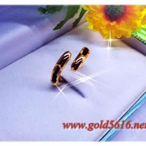 แหวนสอดหางช้าง gold plated 5microns
