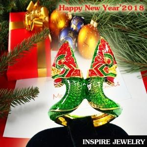Inspire Jewelry ,แหวนพญานาค ชุบทอง ลงยาคุณภาพ ตัวเรือนหุ้มทอง นำโชค เสริมดวง