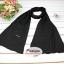 ผ้าพันคอแฟชั่นเกาหลีสีพื้น ZARA BLACK : สีดำ CK0142 thumbnail 5