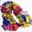 ผ้าพันคอแฟชั่น ลายตารางรูปม้า : สีน้ำเงิน CK0340 thumbnail 1