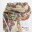 ผ้าพันคอแฟชั่นลายวินเทจ Vintage : สีน้ำตาล CK0153 thumbnail 7