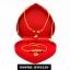 Inspire Jewelry ,ชุดเซ็ทสร้อยคอทองสังวาลย์และสร้อยข้อมือ ห้อยหัวใจ ลงยาคุณภาพ หุ้มทองแท้ 100% 24K พร้อมกล่องกำมะหยี่สวยหรู thumbnail 3