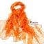ผ้าพันคอแฟชั่น ลายลิง Paul Frank : สีส้ม CK0396 thumbnail 3
