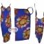 ผ้าสายเดี่ยวคลุมชายหาดลายดอกไม้ Blossom : สีน้ำเงิน AB0023 thumbnail 3