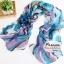 ผ้าพันคอแฟชั่นผ้าพันคอสวยหรู Luxury : สีฟ้า CK0012 thumbnail 1