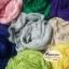ผ้าพันคอแฟชั่นเกาหลีสีพื้น Hot Basic : สีครีม CK0150 thumbnail 6