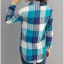 เสื้อเชิ้ตผ้าฝ้ายลายสก๊อตไซส์ใหญ่ สีแดง/สีฟ้า (XL,2XL,3XL,4XL) thumbnail 3