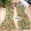 ผ้าพันคอแฟชั่นลายป่า Aavatar forest : สีเขียวพื้นน้ำตาล CK0201 thumbnail 1