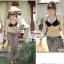 ผ้าคลุมชายหาด ลายแนวขวาง : สีดำขาว AB0009 thumbnail 3