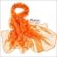 ผ้าพันคอแฟชั่น ลายลิง Paul Frank : สีส้ม CK0396 thumbnail 2
