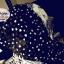 ผ้าพันคอแฟชั่นลายหัวใจ Sweet Heart : สีขาวพื้นสีดำ CK0139 thumbnail 2