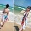 ผ้าคลุมชายหาด : สีผสมโทนอ่อนสลับเข้ม AB0016 thumbnail 3