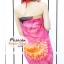 ผ้าคลุมชายหาดลายดอกไม้ Blossom : สีเหลืองพื้นสีชมพูสลับดำ AB0018 thumbnail 5