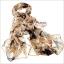 ผ้าพันคอแฟชั่นลายโอลีฟ Olive : สีน้ำตาล CK0359 thumbnail 7