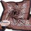 ผ้าพันคอ ผ้าคาดผมเนื้อไหมญี่ปุ่น : สีน้ำตาลดำ MJ0011 thumbnail 2