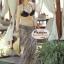 ผ้าคลุมชายหาด ลายแนวขวาง : สีดำขาว AB0009 thumbnail 8