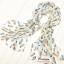 ผ้าพันคอลายขนนก Feather : สีฟ้าอ่อนพื้นขาว CK0305 thumbnail 11