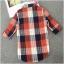 เสื้อเชิ้ตผ้าฝ้ายลายสก๊อตไซส์ใหญ่ สีแดง/สีฟ้า (XL,2XL,3XL,4XL) thumbnail 5