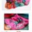 ผ้าพันคอแฟชั่น ลายตารางรูปม้า : สีชมพูส้ม CK0341 thumbnail 2