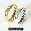 INSPIRE JEWELRY แหวนพูนทรัพย์แหวนพลอยนพเก้า ใส่แล้วดี เป็นศิริมงคล มีให้เลือกสองสี ทอง และทองขาว thumbnail 2