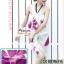 ผ้าคลุมชายหาดลายดอกไม้ Blossom : สีชมพูม่วง AB0015 thumbnail 6