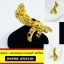 INSPIRE JEWELRY แหวนพญานาคฝังพลอยนพเก้า ฟรีไซด์ พร้อมถุงกำมะหยี่ ตัวเรือนชุบเศษทองแท้ 100% gold plated thumbnail 2