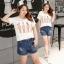 เสื้อยืดไซส์ใหญ่ สีขาวพิมพ์ลาย คอกลม แขนสั้น (XL,2XL,3XL,4XL) thumbnail 1