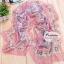 ผ้าพันคอแฟชั่นสวยหรู Luxury : สีชมพู CK0046 thumbnail 1