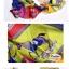 ผ้าพันคอแฟชั่น ลายตารางรูปม้า : สีน้ำเงิน CK0340 thumbnail 2