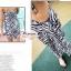 ผ้าคลุมชายหาด ลาย ZEBRA : สีดำขาว AB0010 thumbnail 3