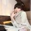 ผ้าพันคอแฟชั่นเกาหลีสีพื้น Hot Basic : สีครีม CK0150 thumbnail 1
