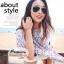 ผ้าพันคอแฟชั่น ลายลิปสติก : สีม่วงพื้นสีครีม CK0299 thumbnail 1