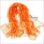 ผ้าพันคอแฟชั่น ลายลิง Paul Frank : สีส้ม CK0396 thumbnail 1