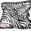 ผ้าพันคอ ผ้าคาดผมเนื้อไหมญี่ปุ่น : สีดำขาว MJ0015 thumbnail 2