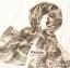 ผ้าพันคอแฟชั่นลายสวยน่ารัก Kawaii : สีชมพู CK0241 thumbnail 2
