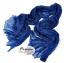 ผ้าพันคอแฟชั่นเกาหลีสีพื้น Hot Basic : สีน้ำเงินเข้ม CK0406 thumbnail 1