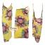 ผ้าสายเดี่ยวคลุมชายหาดลายดอกไม้ Blossom : สีเหลือง AB0025 thumbnail 3