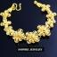 INSPIRE JEWELRY สร้อยข้อมือลายดอกไม้ รอบมือ ตอกลายทองสวยงามมาก หนัก 1บาทกว่า หุ้มทองแท้ 100% or gold plated แบบร้านทอง thumbnail 4
