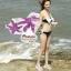 ผ้าคลุมชายหาดลายดอกไม้ Blossom : สีชมพูม่วง AB0015 thumbnail 3
