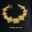 INSPIRE JEWELRY สร้อยข้อมือลายดอกไม้ รอบมือ ตอกลายทองสวยงามมาก หนัก 1บาทกว่า หุ้มทองแท้ 100% or gold plated แบบร้านทอง thumbnail 3