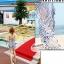 ผ้าคลุมชายหาด ลาย ZEBRA : สีดำขาว AB0010 thumbnail 5