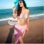 ผ้าคลุมชายหาด Hot Basic : สีชมพู AB0003 thumbnail 2