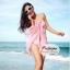 ผ้าคลุมชายหาด Hot Basic : สีชมพู AB0003 thumbnail 1