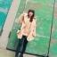 เสื้อไหมพรมคอบัวช่วงแขนยาว สีชมพูโอโรส สวย น่ารัก ใส่เป็นเสื้อคลุมกันหนาวได้จ้า thumbnail 4
