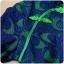 ชุดกี่เพ้าสีเขียวสั้นไซส์ใหญ่ ผ้าลูกไม้ซ้อนสวยเหมือนใส่สองตัว แขนยาว (XL,2XL,3XL) thumbnail 2