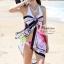 ผ้าคลุมชายหาดลายชบา Blossom : สีชมพูอ่อนและใบไม้สีเขียวขจี AB0014 thumbnail 2